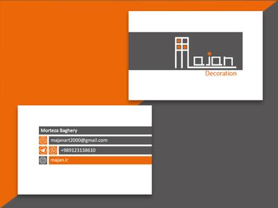 Majan Business Card design vector logo design business card