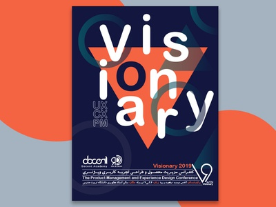 Visionary Poster poster concept conference ux ui branding design