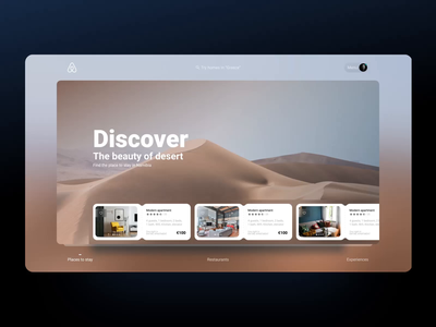 Airbnb redesign concept search booking design adobe xd e-commerce ae slider interaction ui ux