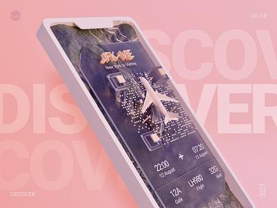 Digital Boarding pass aviation booking boarding pass travel app travel ios app design ios app mobile ui mobile app blender figma interaction ui ux