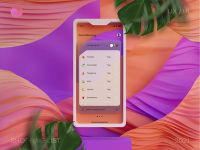 Shopping list app adobexd figma blender uxinspiration mobile mobileapp ios shopping e-commerce interaction ui ux