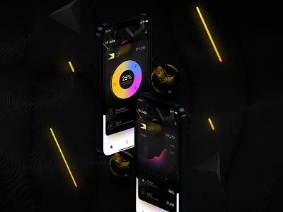 Digital Debit Card uxui blender mobile fintech banking ios interaction ui ux