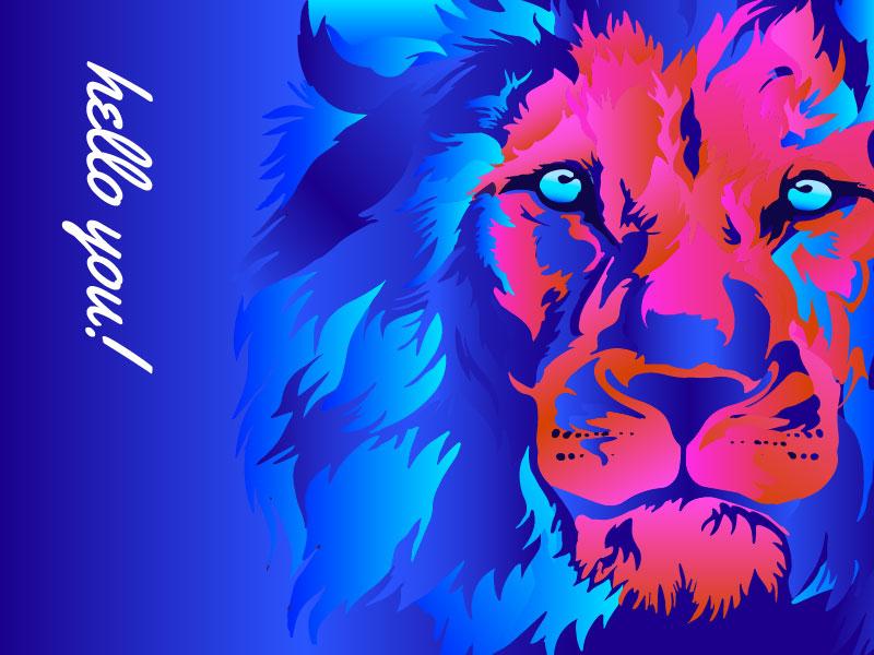Hello Dribbble! bold beautiful fun pink dribbblers hello invite blue illustrator bright illustration