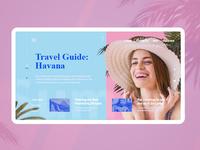 Travel guide screen