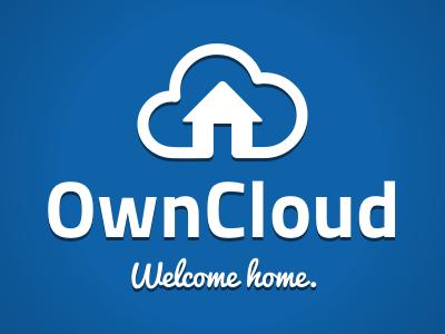 OwnCloud cloud home house logo blue brand owncloud