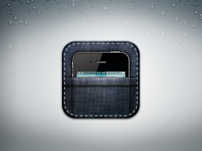 Pocket Design pocket icon ios iphone jean mobile