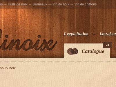 Header wood e-commerce nav navigation tab