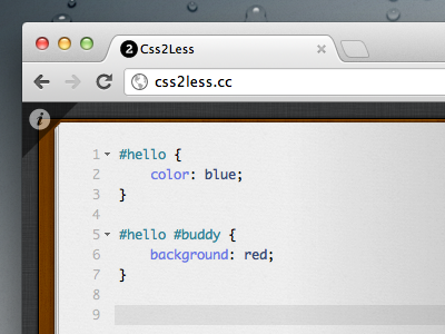 Css2Less is out code css less book convert