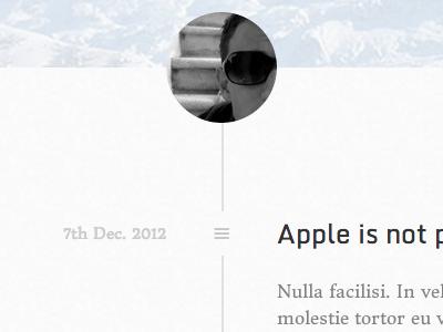 Blog timeline blog avatar white minimalist