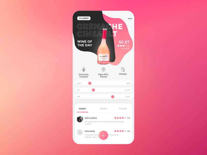 Vivino app UI ui ux minimal simple flat clean application mobile app app wine vivino