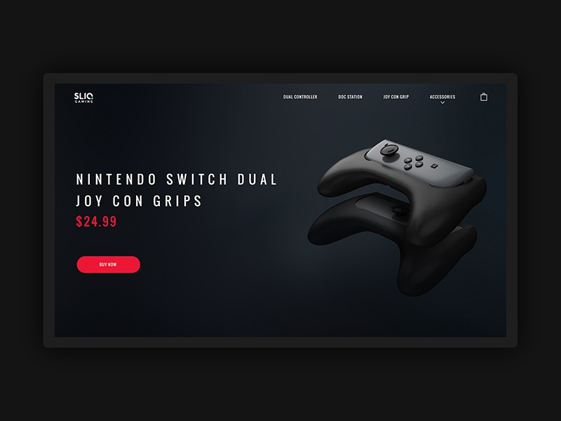 Sliq Gaming product design product game webdesign web design web ui design minimal clean 3d