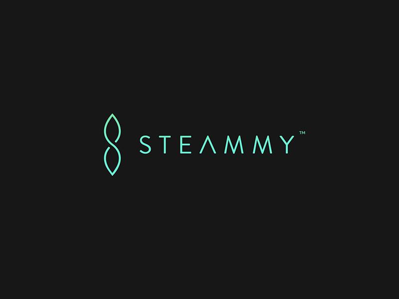 Steammy logo s s logo leaf plant branding clean flat design logo