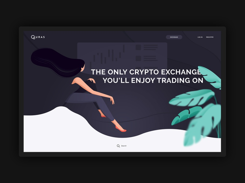 Quras Exchange web ui simple illustration vector cryptocurrency crypto design flat clean