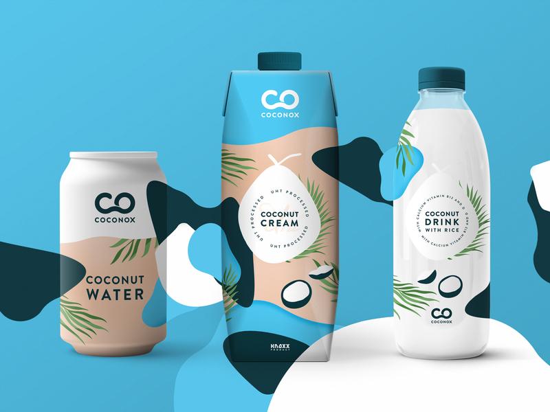 Coconox coconut milk coconut cream coconut water coconut corporate identity design corporate identity packagingdesign packaging illustration logo design minimal logo design branding simple flat clean