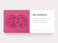 Invitations for 2 amazing designers!