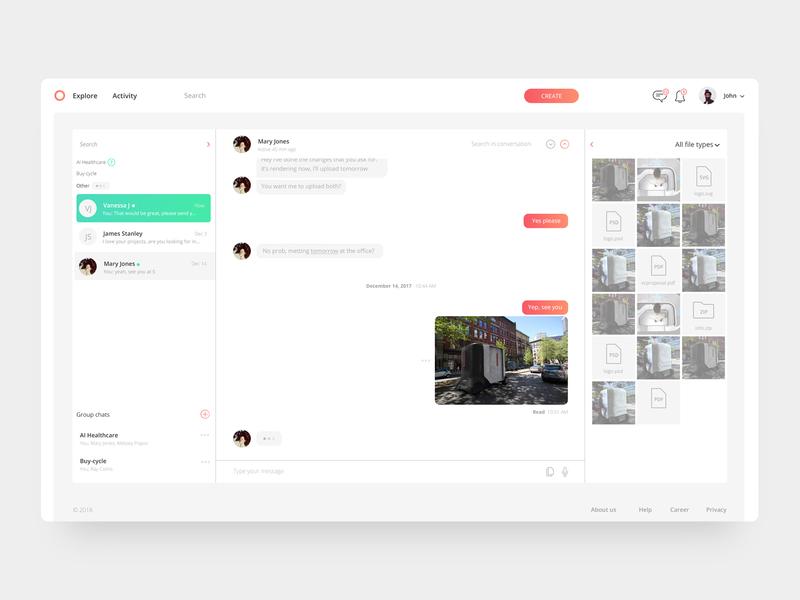 iikoh chat chat app app uiux chat ux web ui branding flat simple clean