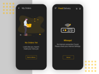 Error prompt [Dark Mode] Food Delivery App UI/UX