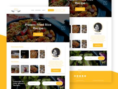 Food Blog Landing Page🔥