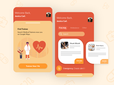 Emergency Medical Trainee App playoff adobe xd undraw illustration android app userinterface concept ui ux android ios medical app medical medical trainee emergency app emt