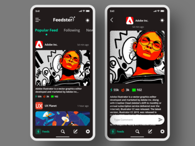 Feedster App {Dark Mode}