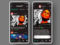 Feedster App {Dark Mode}