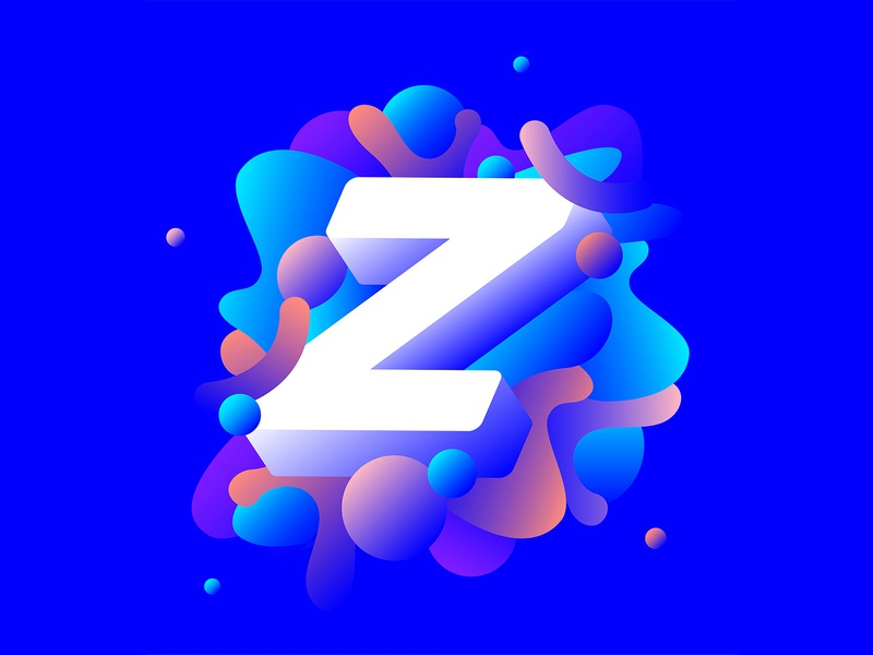 Z is for Zzz digital type lettering identity app typography graphics vector illustration design