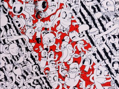 Torn 5/5 graphics vector lineart drawing mural illustrator cartoon character design illustration