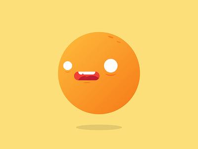 Stressed Orange abstract cartoon graphics digital design icon illustration character