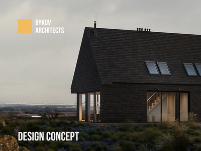 BYKOV Architects Design Concept scandinavian style minimal web design