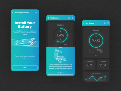 Scooter App product design app design ui design