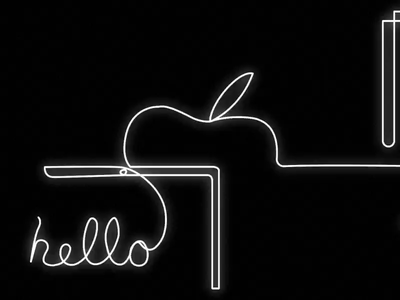 Apple Line Drawing by Slangbusters brand sketch aftereffects motion motiongraphics apple linedrawing macpro iphone imac mac creative ui illustration design slangbusters