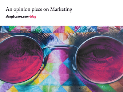 Can marketers spell life without a lie in it? Well, sometimes.