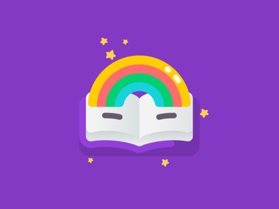 Loading icon for Playstories book store bookicon rainbow icon illustration webdesign kids app