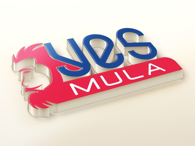 Yes Mulla Logo man saloon mans hair care hair spa saloon