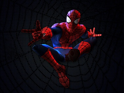Strike a pose ! th3twisted costume classic blue red 3d pose animation web spider-man spider spiderman