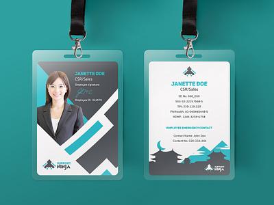 ID card design id card design design