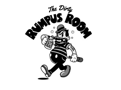 The Dirty Rumpus Room mascot design