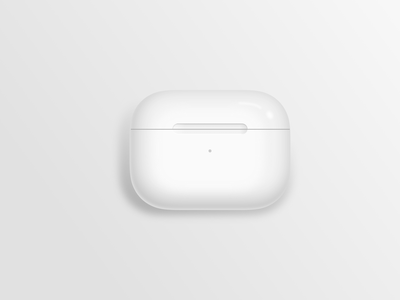 Photo-realistic Airpods Pro case - created in Sketch sketch airpods pro case airpods case airpods pro airpods