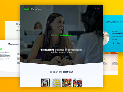 Careers page web page design landing page jobs careers page recruitment single page careers