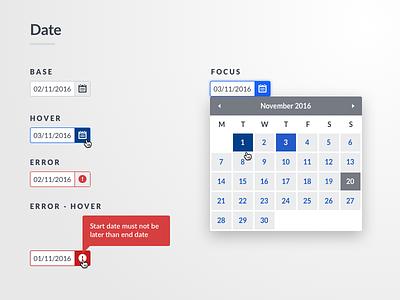 Date Picker / Calendar Component input interface calendar ui datepicker date