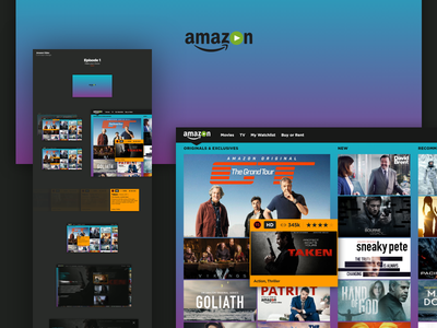 Amazon Video Concept - Episode 1 ui amazon tv streaming films movies ratings adobexd