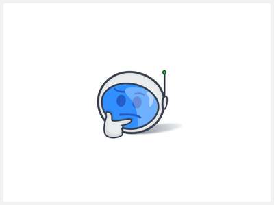Umm... something went wrong - Error page visual thinking helmet spaceman app error page icon illustration emoji 500 error
