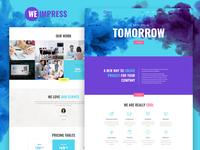 We Impress — Event Agency Elementor Template