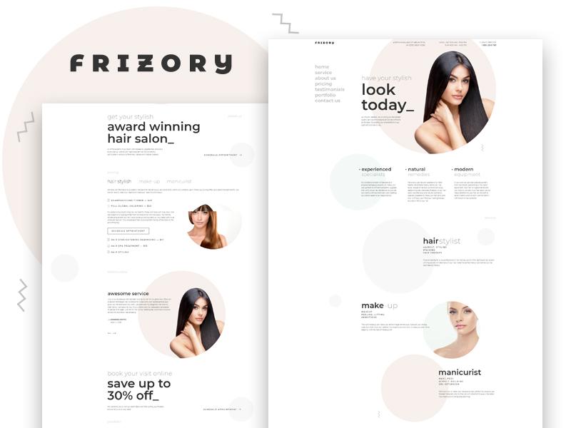 Frizory \u2013 Hair Salon Elementor Template by Crocoblock on