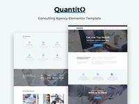 Quantito — Consulting Agency Elementor Template