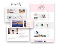 Pinky Winky — Women Blog Elementor Template