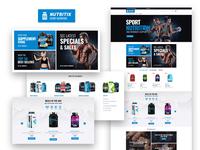 Nutritix — Sports Nutrition Shop Elementor Template