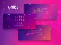 A-Muse — DJ Personal Page Elementor Template