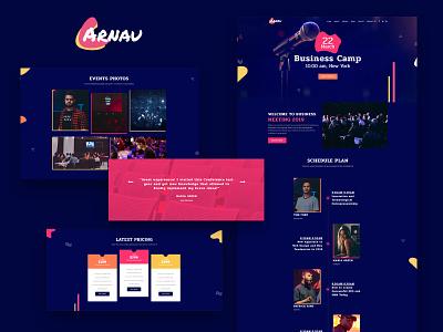Arnau – Business Events Elementor Template business event event business design demo skin template elementor web development website wordpress web design