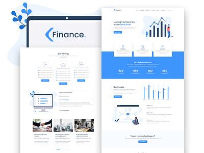 Finance – Business Elementor Template design services plugin business template demo elementor skin web development website wordpress web design